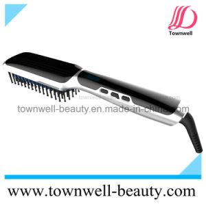 Ceramic Brush Hair Straightening Comb Ionic Straightener pictures & photos