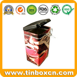 Coffee Tin with Airtight Lid and Metal Mechanism, Coffee Box pictures & photos