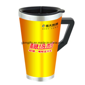 Thermal Insulation Double Wall Glass Cup with Carry Lid pictures & photos