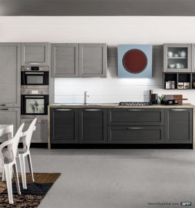 Kitchen Furniture Wooden PVC Kitchen Cabinet pictures & photos