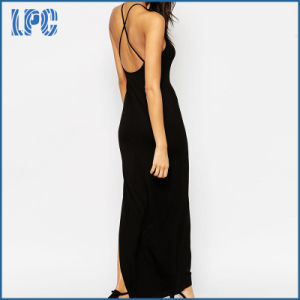 Sexy Fashion Long Style Maxi Backless Dress with Side Split pictures & photos