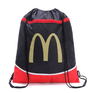 Polyester Nylon Drawstring Shopping Bag Backpack (YYDB043) pictures & photos