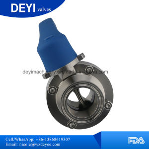 Dn80 Hygienic Stainless Steel Butterfly Valves pictures & photos