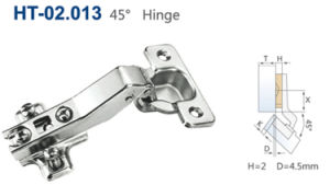 45 Degree Angle Cabinet Hinge Concealed Hinge pictures & photos