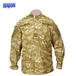 Reactive Printed Desert Camouflage Safety Jacket Military Work Uniforms Clothing pictures & photos