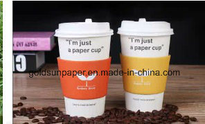 Disposable Coffee Paper Cup with Lid and Sleeve pictures & photos