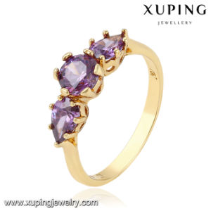 11572 Fashion Women Colorful Zircon Jewelry Finger Ring in 18k Gold Plated pictures & photos