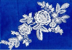 Hot Sell Jacquard Knitting Lace Fabric pictures & photos