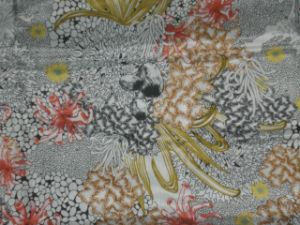 Printed Silk Habotai in Complex Flower Pattern pictures & photos