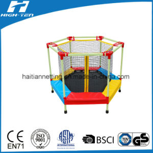 Colourful Hexagonal Trampoline with Enclosure pictures & photos