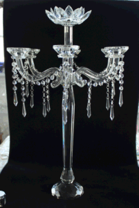 Crystal Candle Holder with Five Posters for Hoem Decoration pictures & photos
