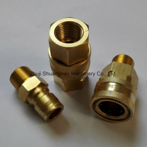 Brass Quick Couplers Machining Parts Pneumatic Element pictures & photos