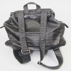 Ladies Washed PU Backpack Casual Leisure Backpack Fashion Accessories Supplier pictures & photos