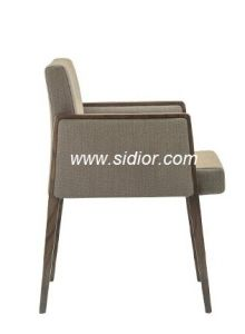 (SD-1008A) Modern Hotel Restaurant Dining Furniture Wooden Arm Chair pictures & photos
