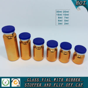 UV Electroplated Amber Tubular Bottle Glass Vial pictures & photos