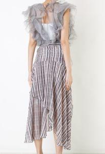 Transparent Chiffon Backless Dress pictures & photos