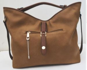 Classic Top Quality PU Leather American-European Style Messenger Tote Handbag pictures & photos