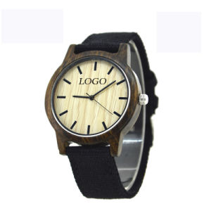 OEM Fashion Wooden Fabric Watch pictures & photos