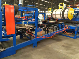 EPS&Rock Wool Sandwich Roof Panel Roll Forming Line pictures & photos