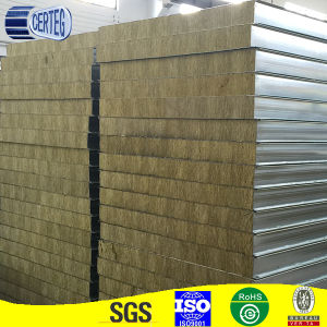 China low-cost rockwool sandwich panel used for walls pictures & photos
