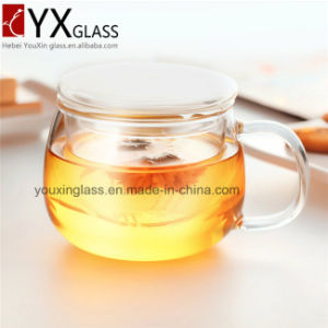 300ml Borosilicate Heat-Resistant Glass Cup Set/Single Wall Glass Cup with Infuse and Lid/Drinking Glass Tea Cup Mug pictures & photos