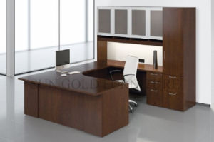 Modern Corner L Shape Computer Desk PVC Office Desk (SZ-ODT674) pictures & photos