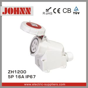 IP67 5p 16A Surface Mounted Industrial Socket pictures & photos
