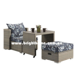 PE Rattan Wicker Balcony Lounge Outdoor Furniture Bp-8030 pictures & photos