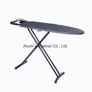 Hotel Black Foldable Ironing Board with Adjustable Height pictures & photos