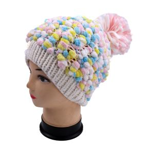 Colorful Fancy Yarn Hand Knit Hat pictures & photos