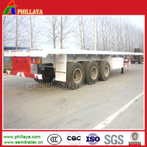 Tri-Axle 40FT Container Semi Trailer Chassis 34t pictures & photos