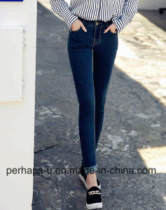 High Quality Women Clothes Waist Blue Jeans pictures & photos