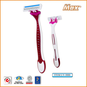 Twin Stainless Steel Blade Disposable Razor Fro Woman (LV-3088) pictures & photos