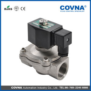 Stainless Steel Normally Closed Solenoid Valve with 2/2