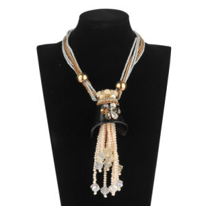 Big Glory Glass Beads with Pearl Fashion Necklace (XJW13599) pictures & photos