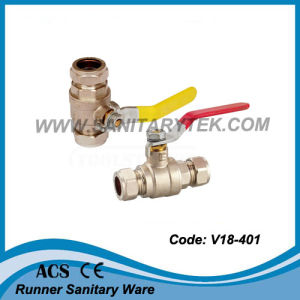 Brass Ball Valve with Compression Ends (V18-401) pictures & photos