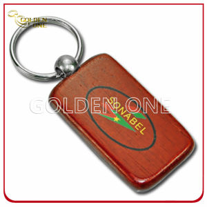 Custom Engrave Wooden Key Ring with Brushed Metal pictures & photos