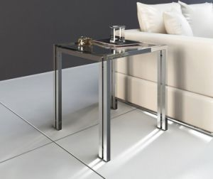 Latest Stainless Steel Glass Coffee Table Set for Home (CCT-014)