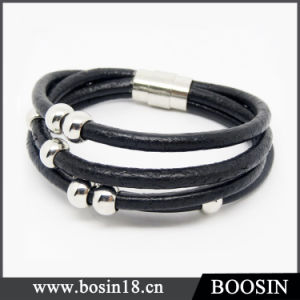 Handmade Braided Rope Knot Leather Bracelet pictures & photos