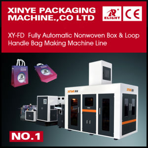Non Woven Box Bag with Loop Handle Bag Making Machine pictures & photos