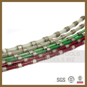 Adopt Diepa Steel Diamond Wire Saw for Granite Block Squaring pictures & photos