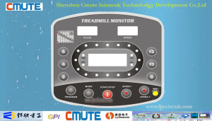Polycarbonate 0.175mm Embossing Overlay Polydome Treadmill Monitor Keypad pictures & photos