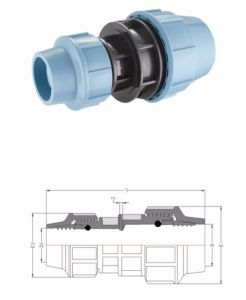 Coupling / PP Compression Fittings for Irrigation System pictures & photos