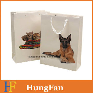 Lovely Animal Style Gift Paper Bag with Ribbon Handle pictures & photos