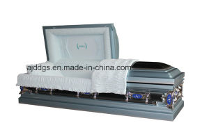 Light Blue and Black Coffin pictures & photos