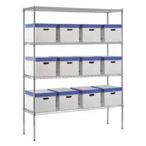 Multi Tiers Heavy Duty Chrome Metal Decorative Wire Shelves pictures & photos
