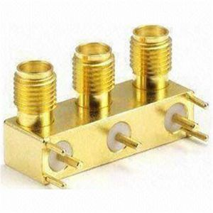 SMA Female Three Port Right Angle PCB Jack RF Connector
