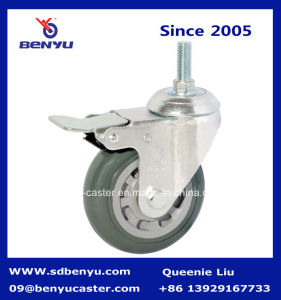 Swivel Caster Wheels PU Base with Screw Top pictures & photos