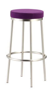 Swivel Stainless Steel Mould Foam Round PU Seat Bar Chair pictures & photos
