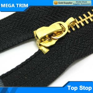 Good Price with High Quality Gold U Shape Zipper Top Stopper pictures & photos